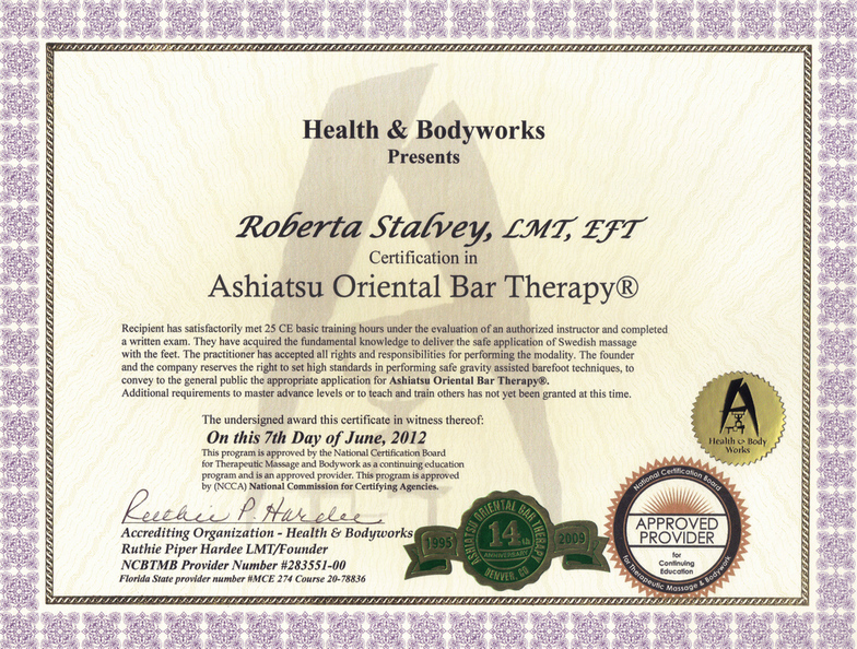 Massage Tlc Roberta Stalvey Ashiatsu Certification Carrollton Tx